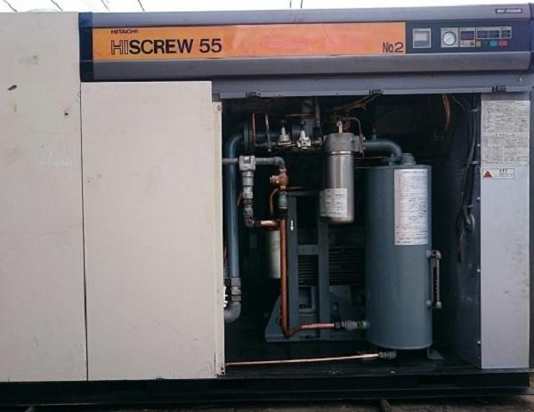 Máy nén khí trục vít cũ Hitachi Hiscrew 55kw (seri 2000) Inverter