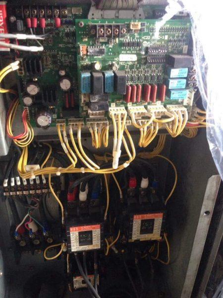 Hệ thống mạch điều khiển máy nén trục vít HITACHI AIRCOOL đời 96