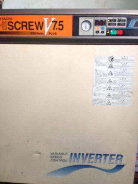 Máy nén khí trục vít cũ Hitachi Hiscrew 7.5kw (seri 2000) Inverter