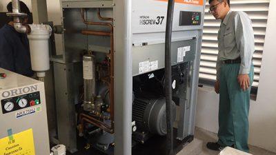 Cách bảo trì thay thế phụ tùng máy nén khí Hitachi